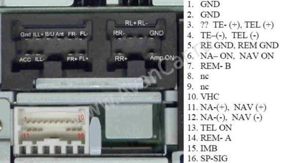 магнитола clarion pp-2609h nissan patrol схема подключения